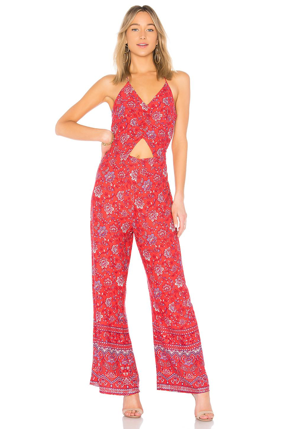 77a7cd70b13 Lyst - MINKPINK Lucia Halterneck Jumpsuit in Red - Save ...