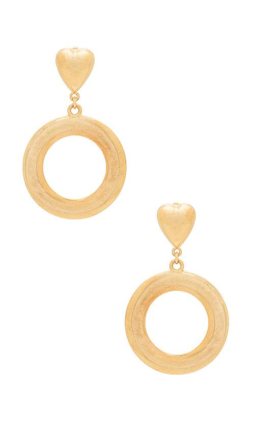 Hoop There It Is Earrings in Metallic Gold Frasier Sterling dFzJe0