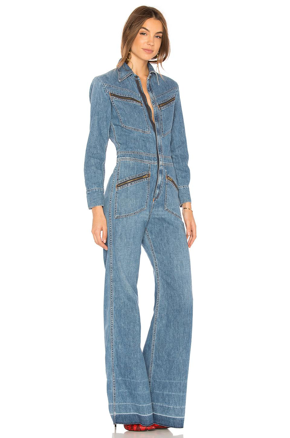 889169213772 Lyst - Citizens of Humanity Farrah 70s Jumpsuit in Blue