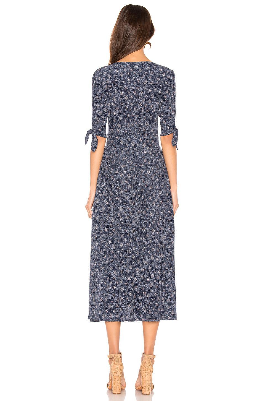 Tie Revolve X Auguste Blue Sleeve Dress Lyst Jasmine In wOP80nk