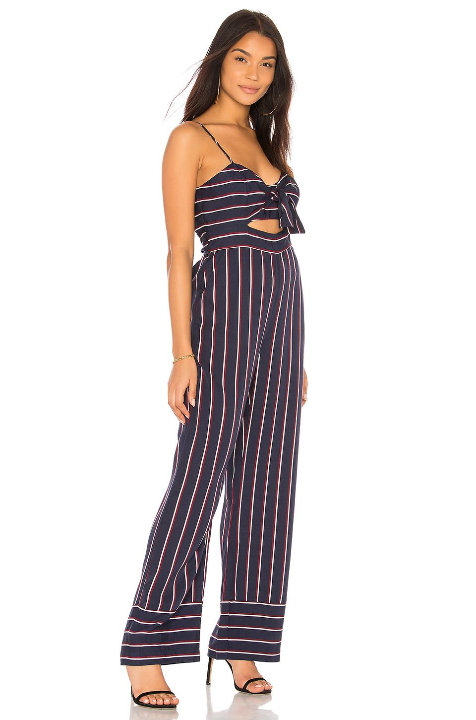 fed2bff915a3 Lyst - Bardot Lulu Jumpsuit in Blue