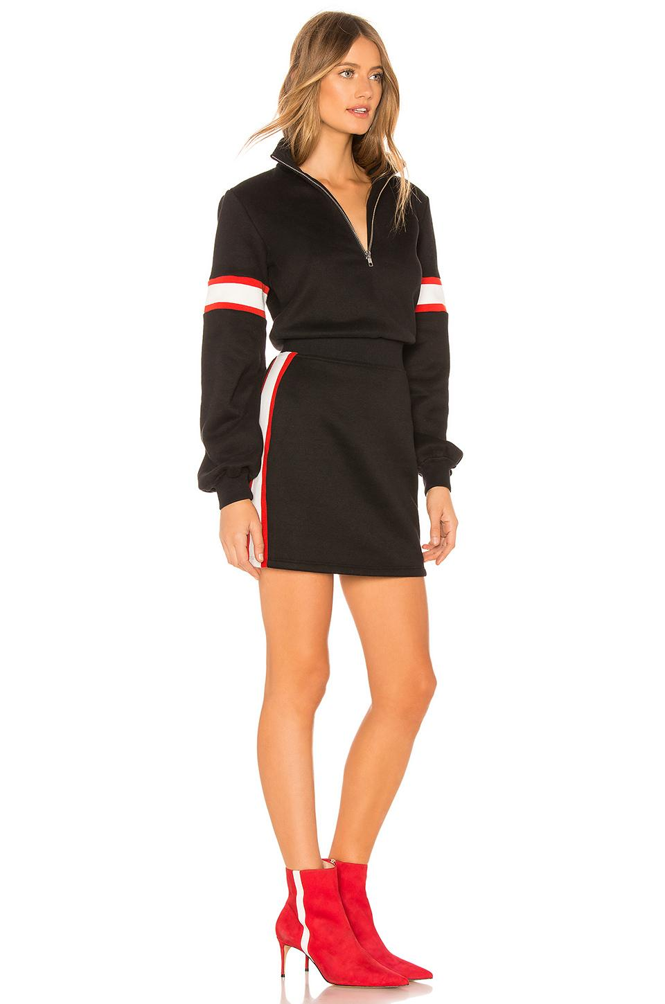 38fbe7d409bd Lovers + Friends - Black Becker Zip Up Mini Dress - Lyst. View fullscreen