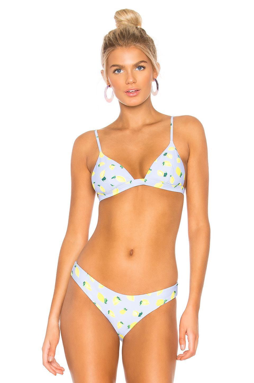 2c0e11fed7ded Onia Danni Lemon Toss Bikini Top - Lyst