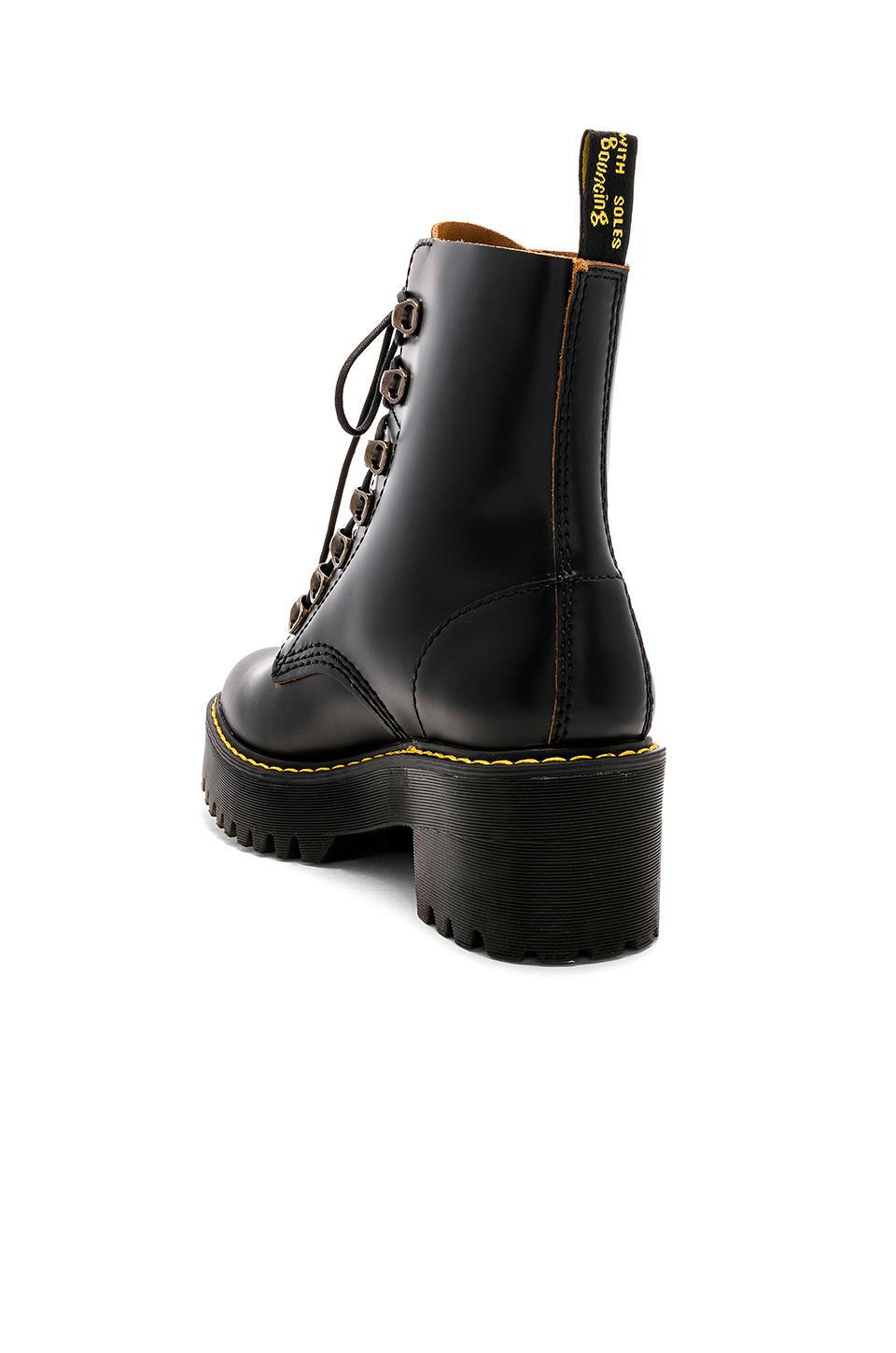 1f33c811592 Dr. Martens Leona Boot in Black - Lyst