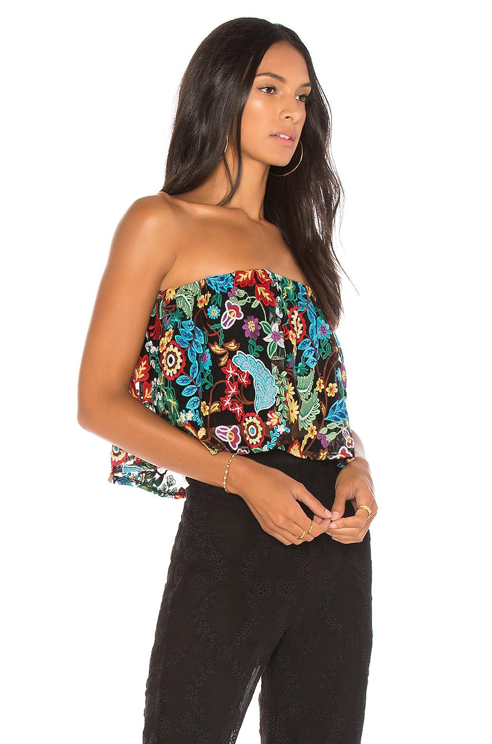 lyst - jen's pirate booty tropical forest tecual tube top in black