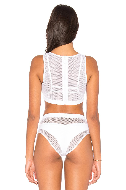f2ec1a5aa3b64 Kendall + Kylie X Revolve Mesh Tank Bikini Top in White - Lyst