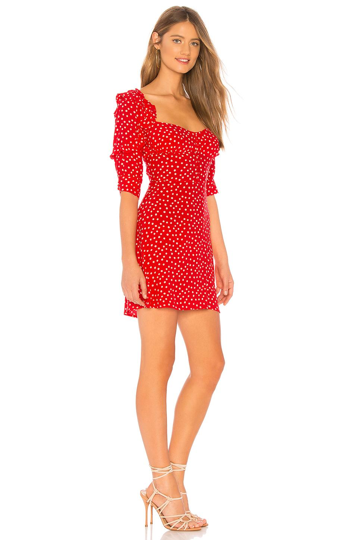 6dfe0e09501bd For Love & Lemons X Revolve Buttoned Mini Dress in Red - Lyst