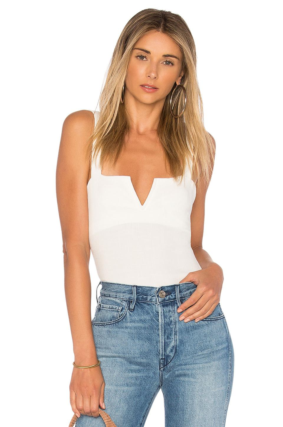 d90c03c2fa Lyst - Free People Pippa V-wire Bodysuit in White
