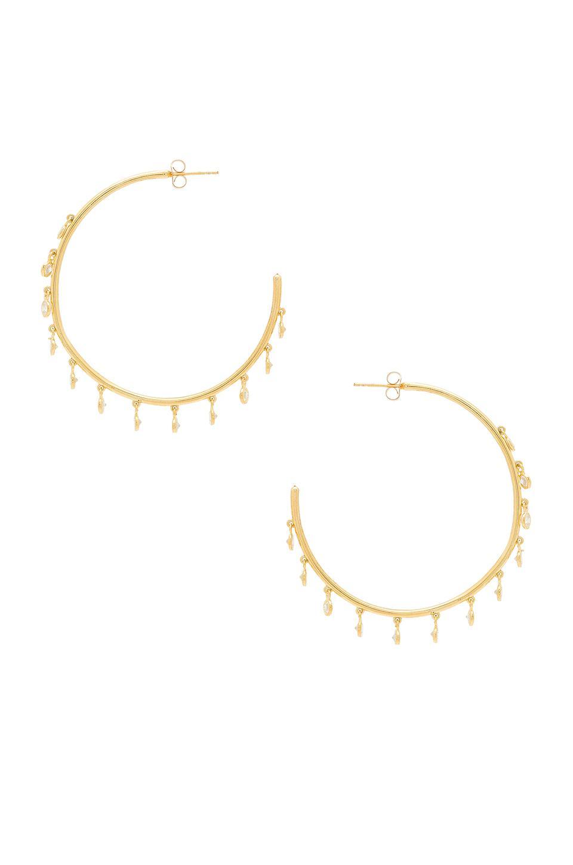 Odyssey Earrings in Metallic Gold Natalie B Jewelry AVRwS3UHP