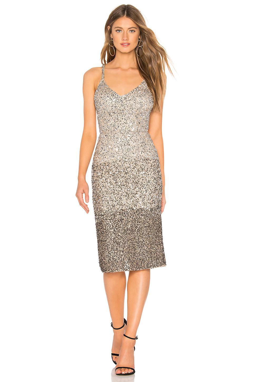 143027b46fa Parker Black Faith Dress In Metallic Silver - Lyst