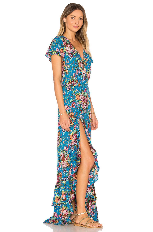 Lyst Auguste Beach House Frill Dress In Blue