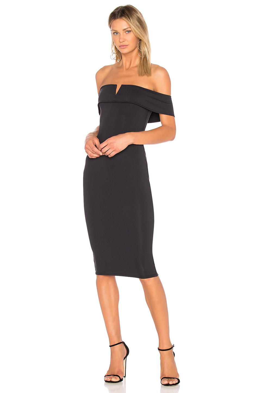 4b2c0156723 Donna Mizani Thalia Midi Dress in Black - Lyst