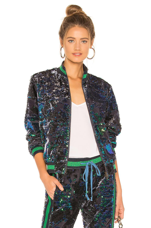 Pam   Gela. Women s Sequin Velour Track Jacket b1a89651648d5