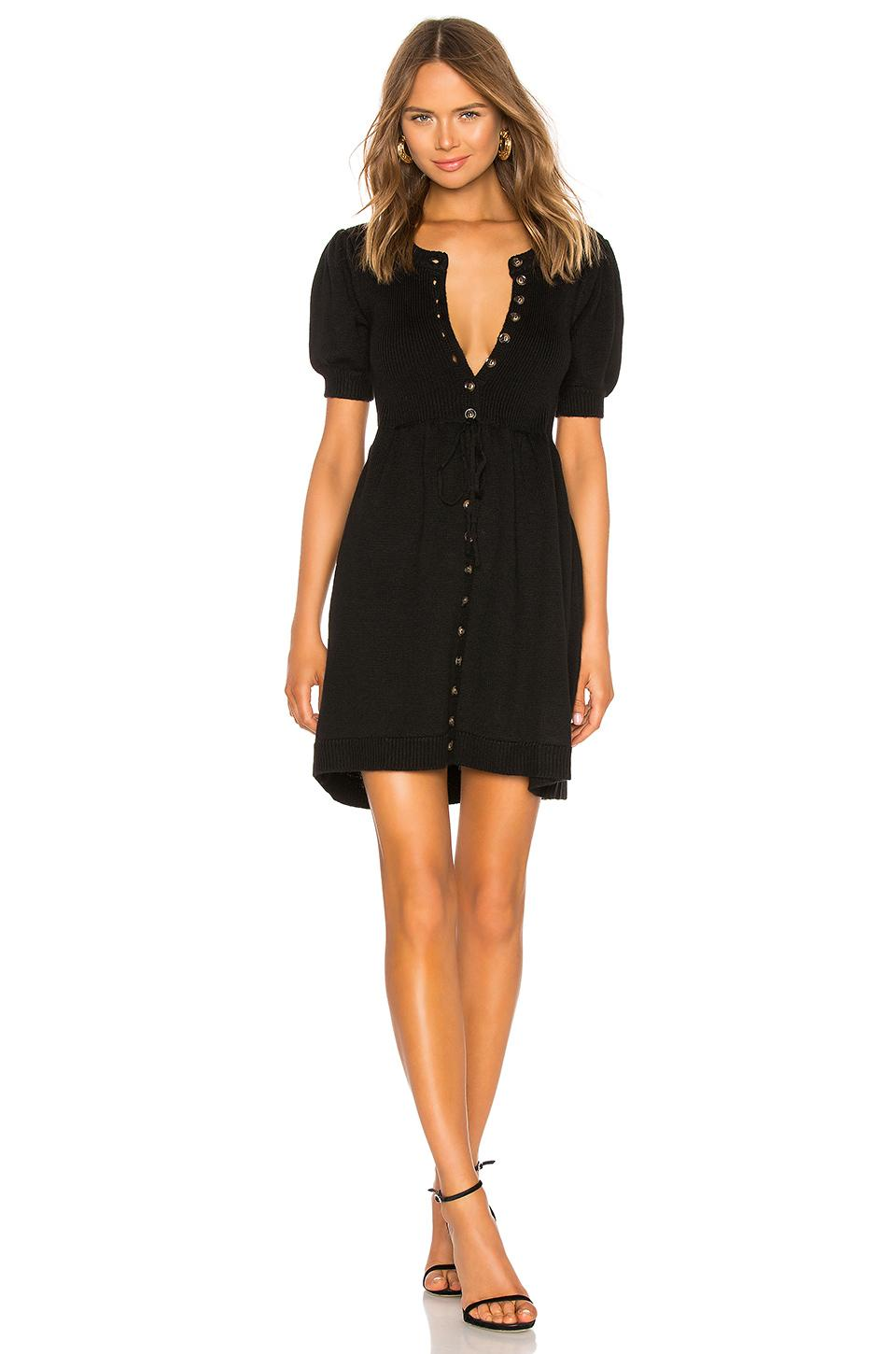 944c64f747 Lyst - LPA Veneta Sweater Dress in Black