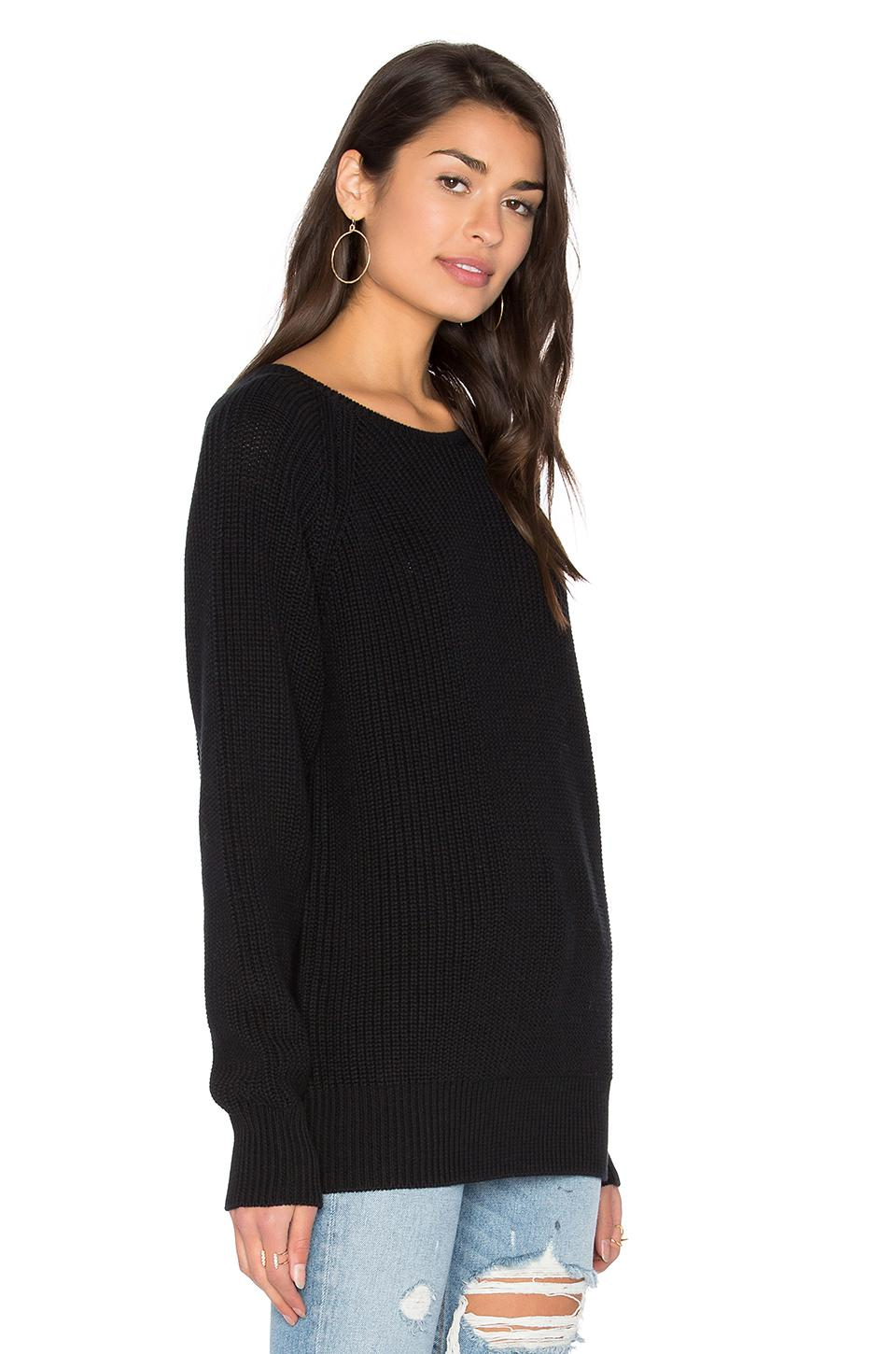 Callahan Boyfriend Sweater in Black | Lyst