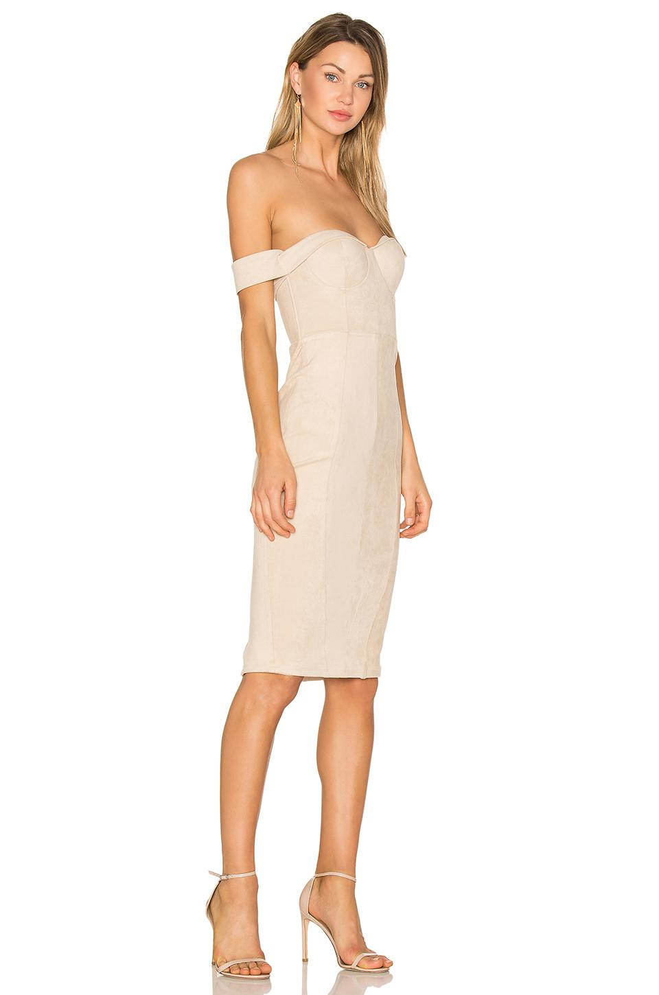 Misha Collection Jackie Dress In Natural Lyst