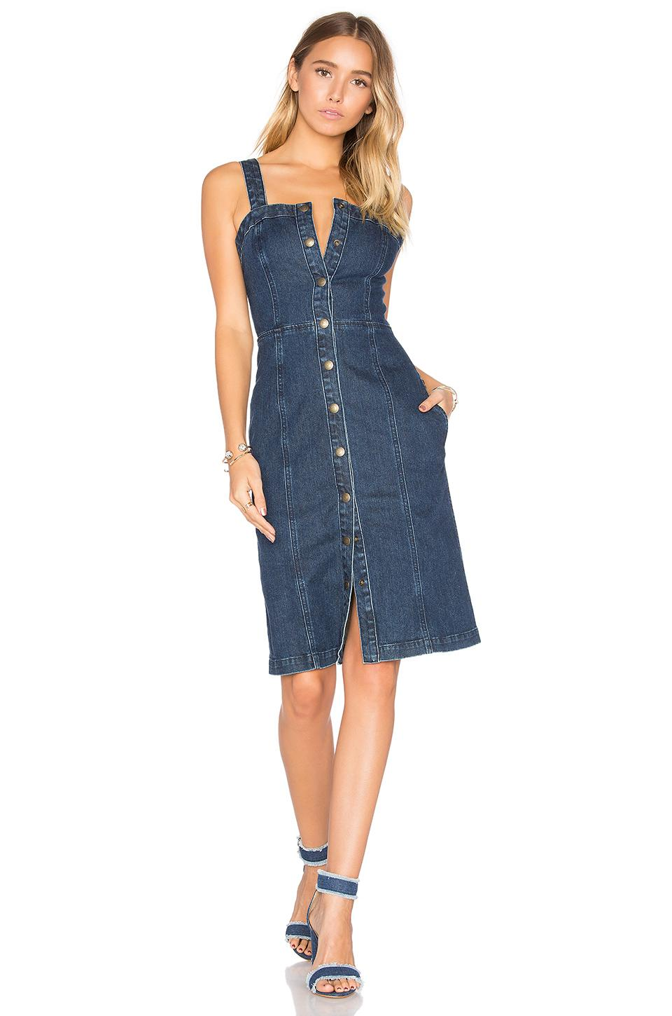 Ag jeans Sydney Denim Dress in Blue | Lyst