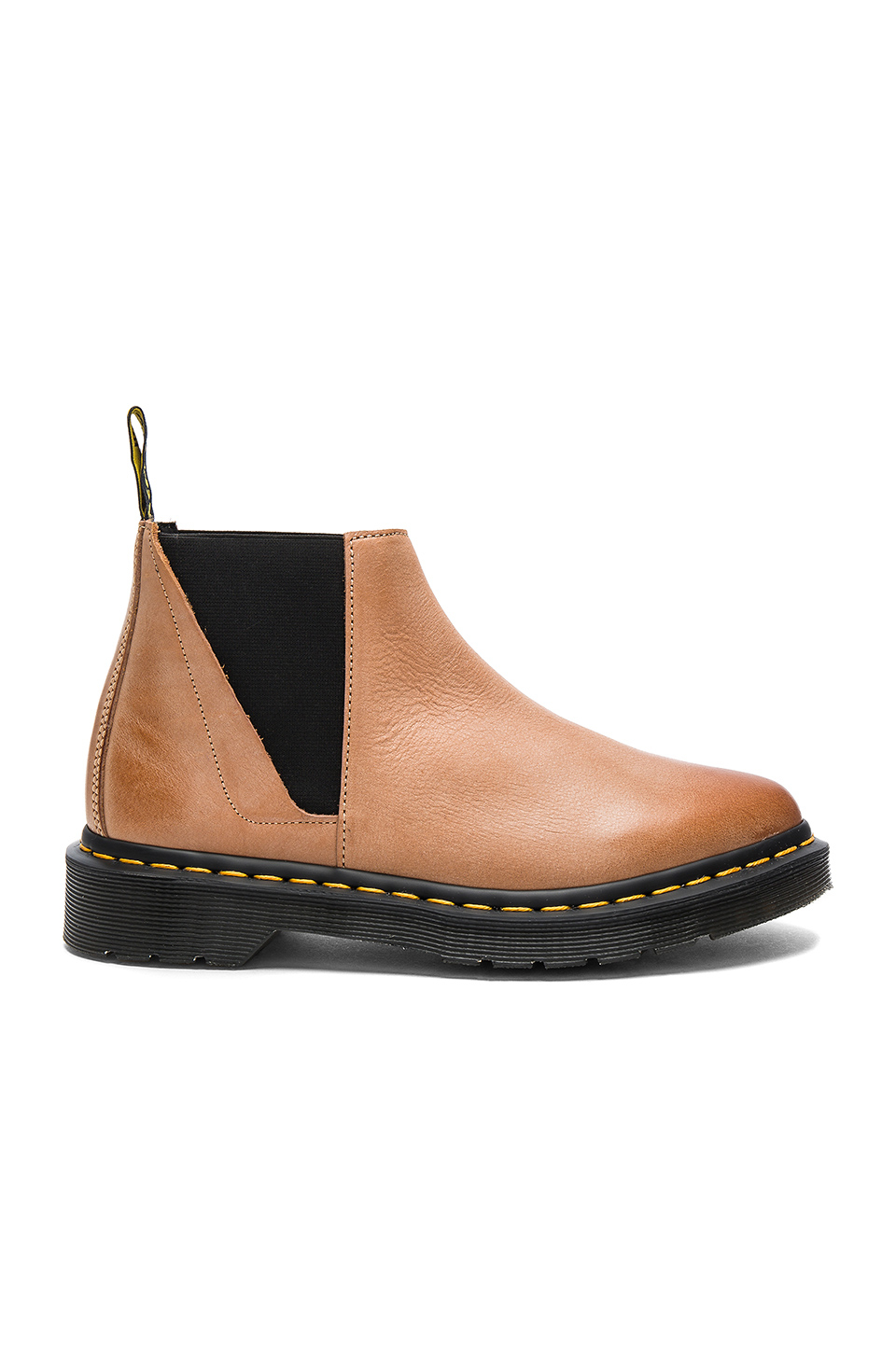 dr martens low shaft chelsea boot in brown lyst