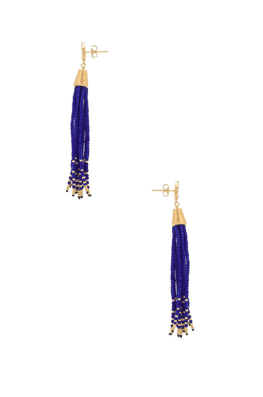 Lyst Gorjana Salina Beaded Tassel Earrings In Metallic