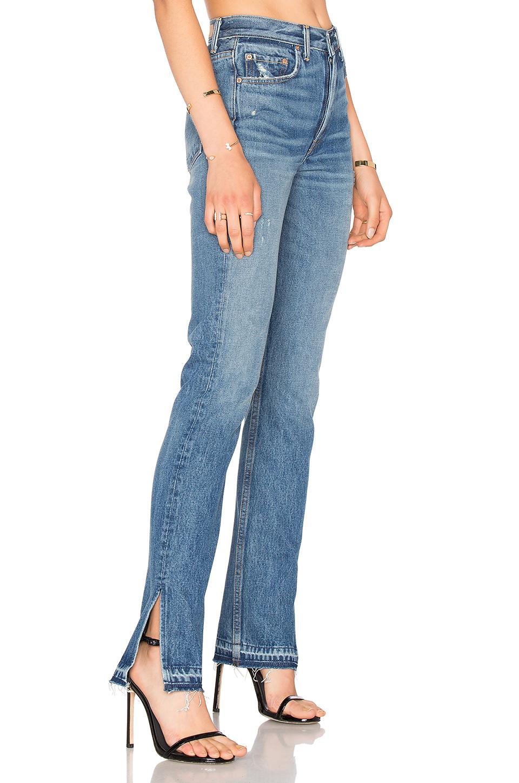 grlfrnd x revolve natalia highrise skinny split jean in