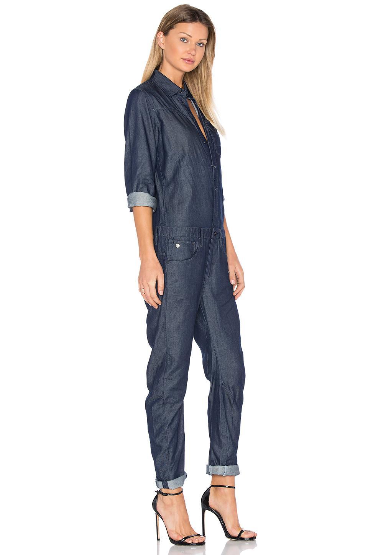 g star raw arc jumpsuit in blue lyst. Black Bedroom Furniture Sets. Home Design Ideas