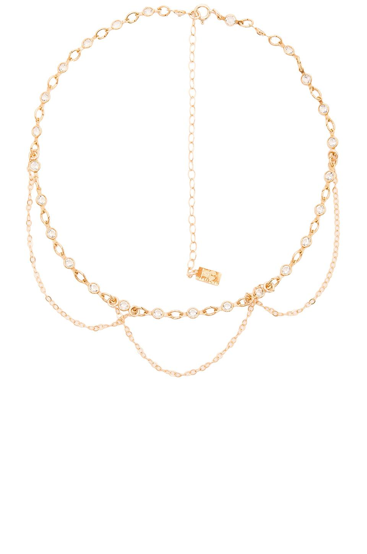 Haati Chai Chain Choker in Metallic Gold 1KEcif