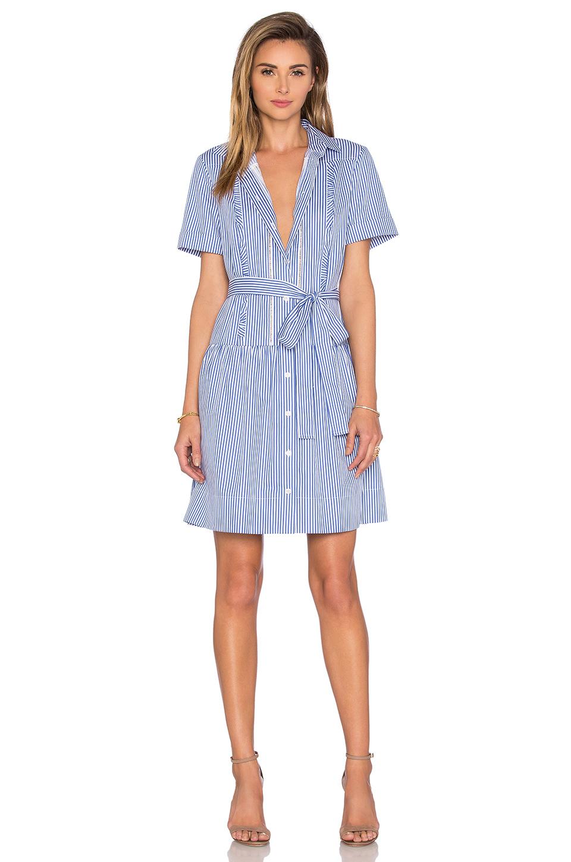 Kate Spade Pinstripe Shirt Dress In Blue Lyst