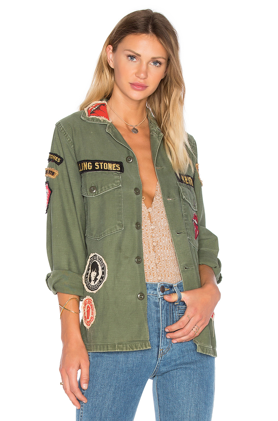 Lyst Madeworn Rolling Stones Cotton Army Jacket