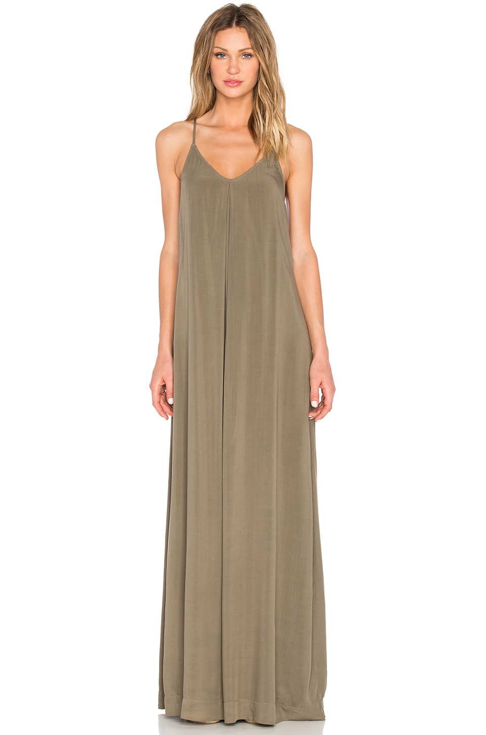 Michael stars Maxi Slip Dress in Natural | Lyst