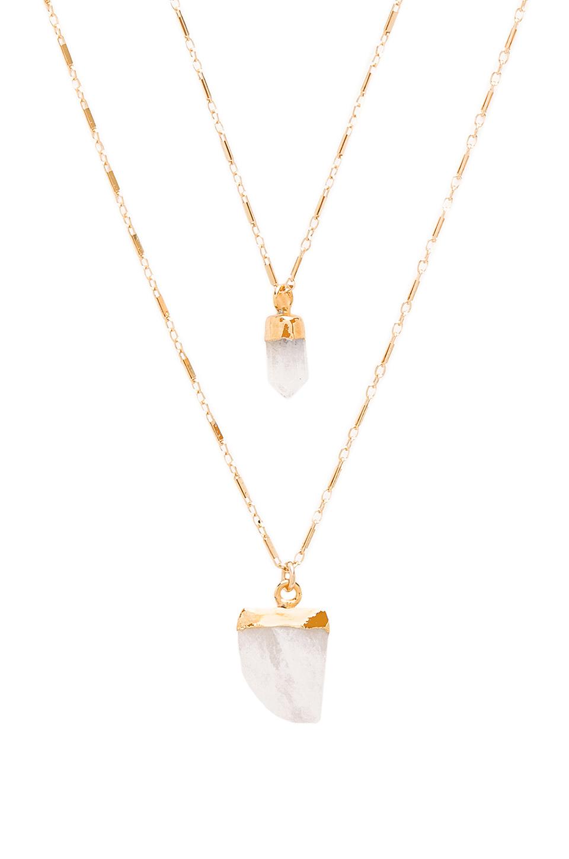 Natalie b. jewelry Moonstone Pendant Double Layer Necklace ...