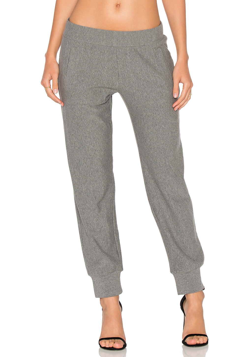 Fantastic Women39s Sweatpants Grey Jogger Pants Fleece Quilted Pocket Lounge Pant