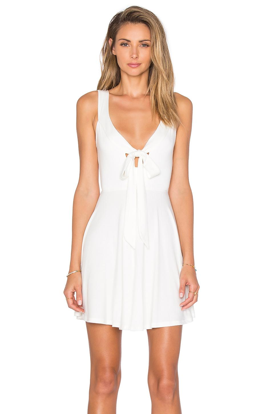 Lyst - Rachel pally Ossy Self-Tie Mini Dress in White
