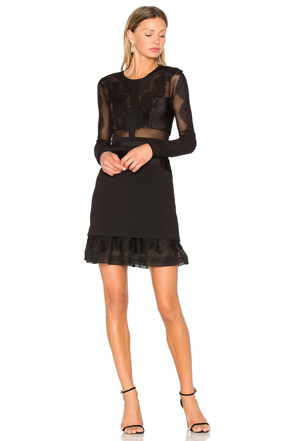 Three floor bonjour dress in black lyst for Three floor yellow dress