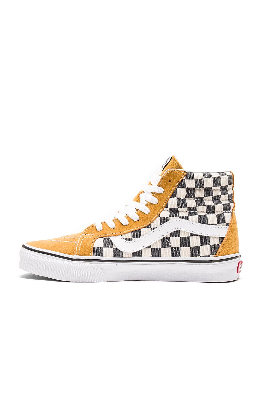 ac971890ea Lyst - Vans Sk8-hi Reissue Checkerboard in Yellow for Men