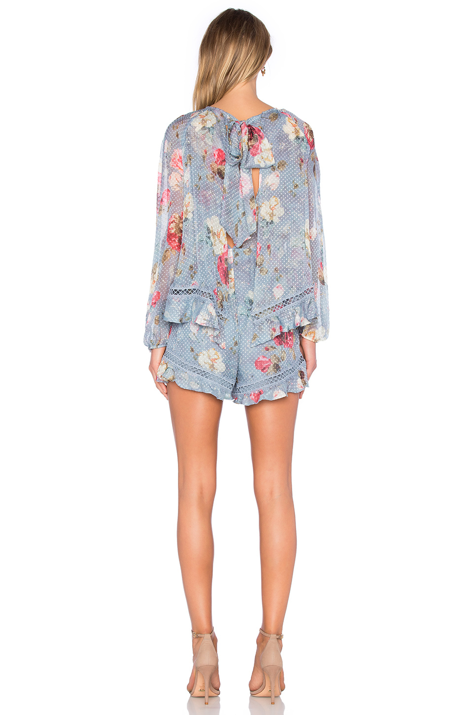 a8d805a19b Lyst - Zimmermann Havoc Floating Layer Playsuit in Green