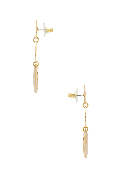 Star Girl Medallion Double Drop Earrings in Metallic Gold Rebecca Minkoff 5GrSIxwOO