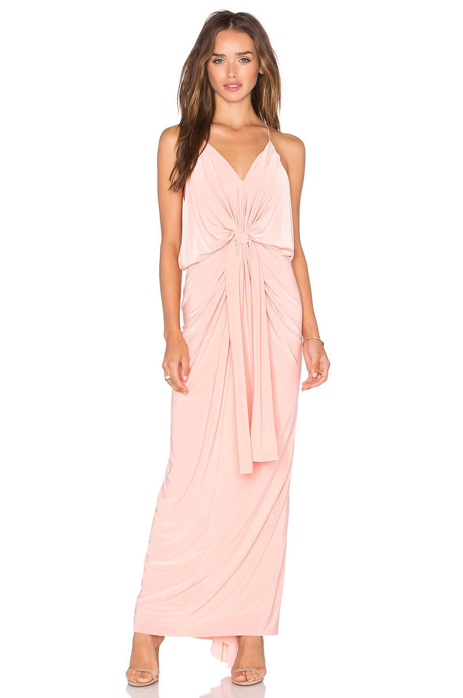 Lyst - Misa Domino Tie Front Maxi Dress in Pink