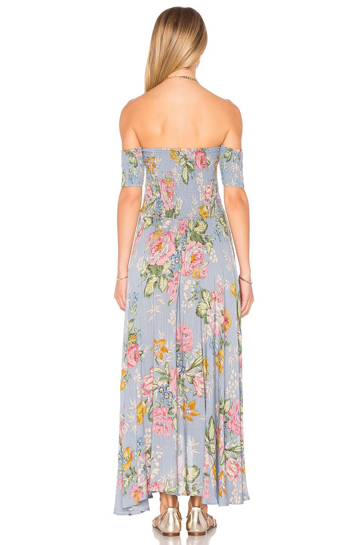 0176241d4313 Auguste Boheme Goddess Maxi Dress in Blue - Lyst