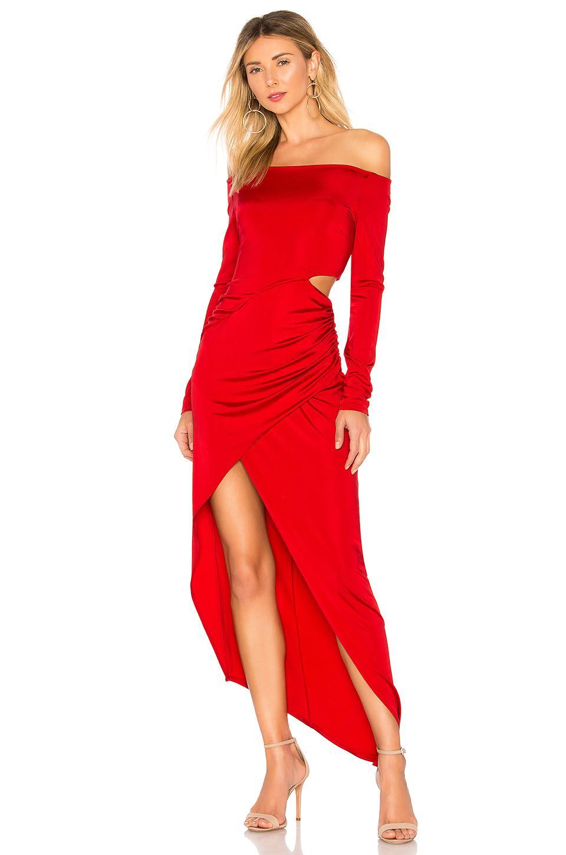 ad19af7410de5 Lyst - Michelle Mason Boatneck Wrap Dress in Red