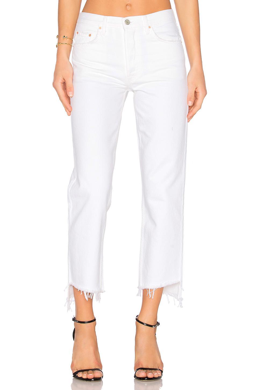 a99416c253f1 GRLFRND - White Helena High-rise Straight Crop Jean - Lyst. View fullscreen