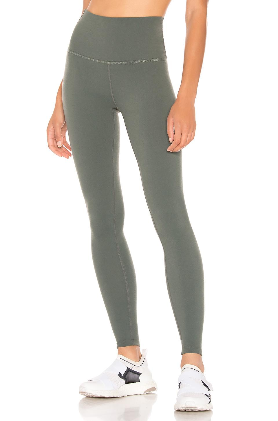 88819da5d39a25 Beyond Yoga Caught In The Midi High Waisted Legging in Green - Lyst