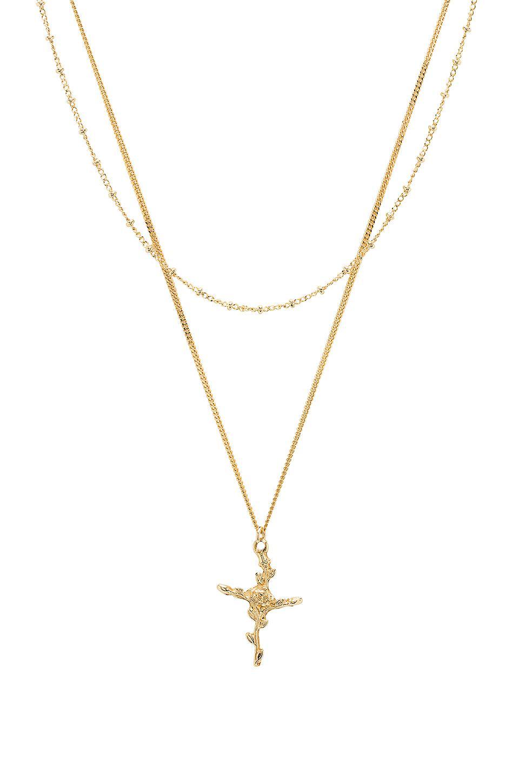 Non & Oui Necklace in Metallic Gold Joolz by Martha Calvo wcElq6f
