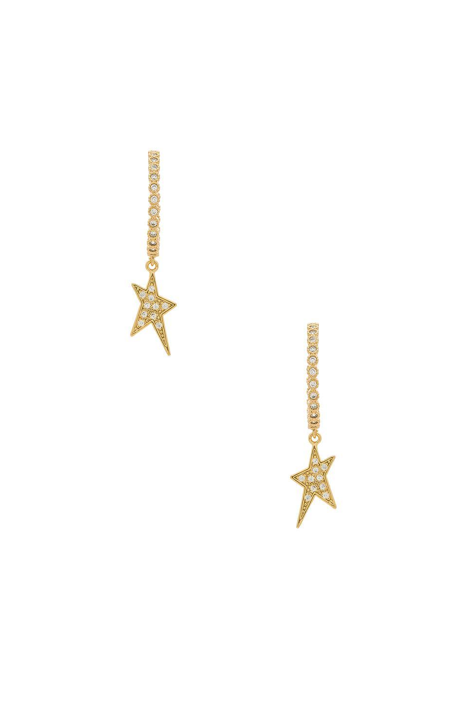 Big Johns Shark Tooth Earrings in Metallic Gold Joolz by Martha Calvo hg5mdLE9ZU