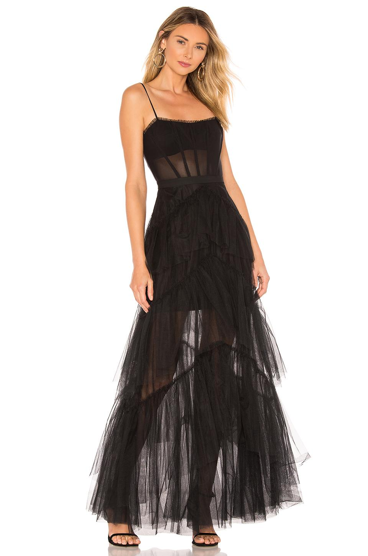 364d7fac7e BCBGMAXAZRIA Corset Tulle Gown in Black - Lyst