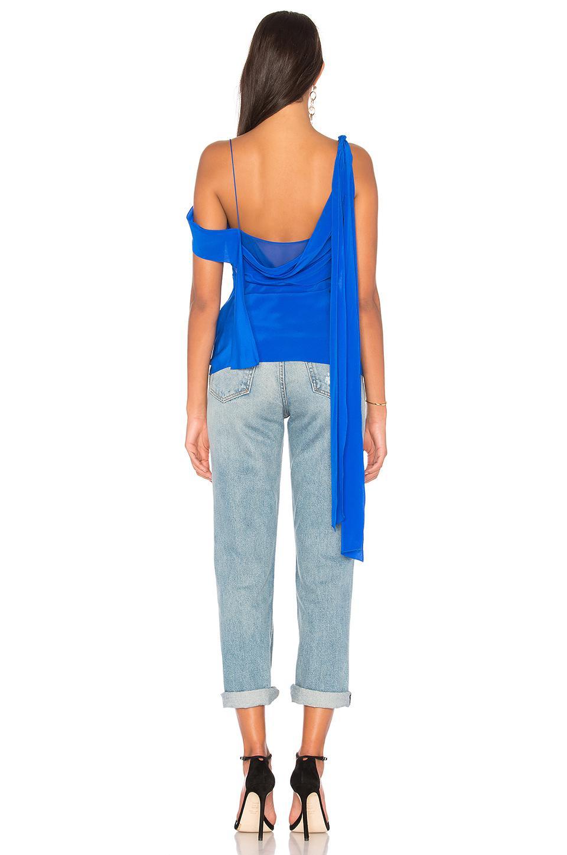bf44504f9d6436 Diane von Furstenberg Shoulder Knot Top in Blue - Lyst