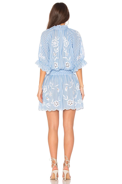 63d9af8338 Juliet Dunn Embroidered Flower Dress in Blue - Lyst
