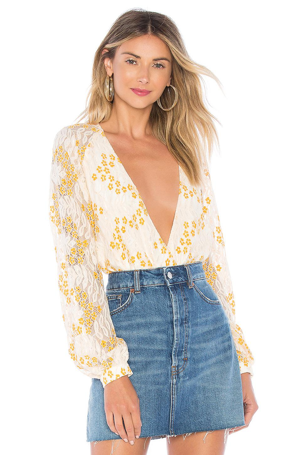 Lyst - Lovers + Friends Layla Bodysuit In Cream c2983ecc3