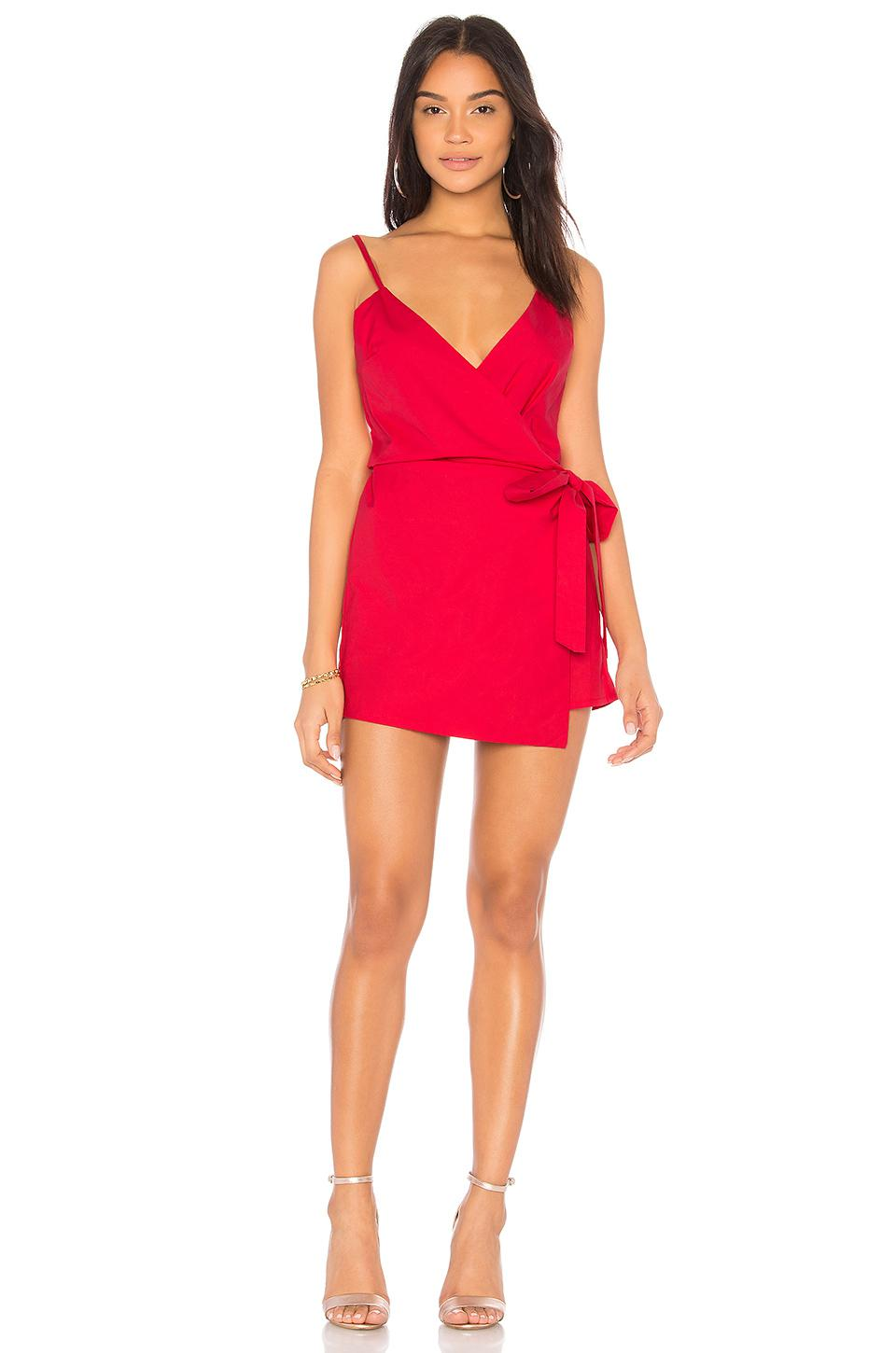 61454782b06 Lioness Rouje Romper in Red - Lyst