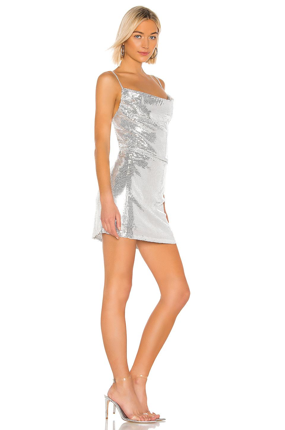 a3f0271aaed5 Kendall + Kylie X Revolve Cowl Apron Sequin Dress in Gray - Lyst