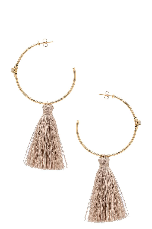 Melanie Auld Starburst Hoop Earrings in Metallic Gold pVzvX5T1wY
